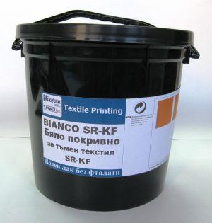 SR-KF - Бяла поквивна печатна паста за тъмен текстил - 5 Кг.