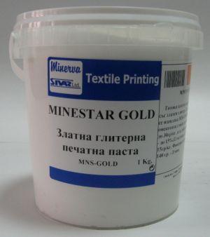 MNS-GOLD Готова за използване златна глитерна паста